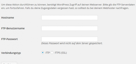 (Screenshot: WordPress Admin Oberfläche)