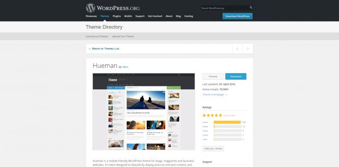 Galerie Beispiel - WordPress Theme Hueman