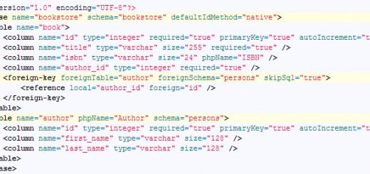 php propel mysql foreign keys